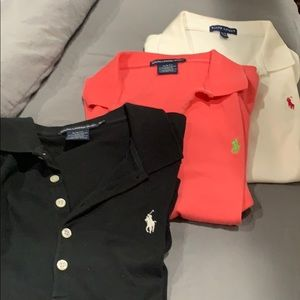 Ralph Lauren Polo shirts bundle of 3